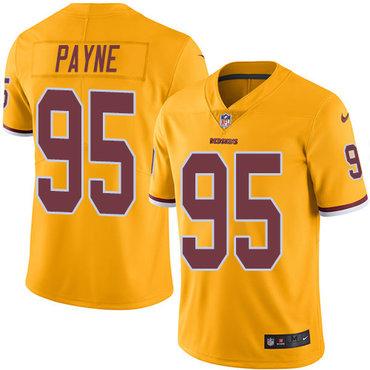 Nike Redskins #95 Da'Ron Payne Gold Youth Stitched NFL Limited Rush Jersey