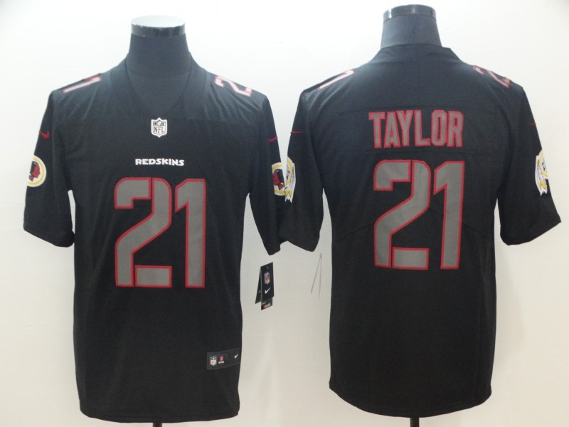 Nike Redskins 21 Sean Taylor Black Impact Rush Limited Jersey
