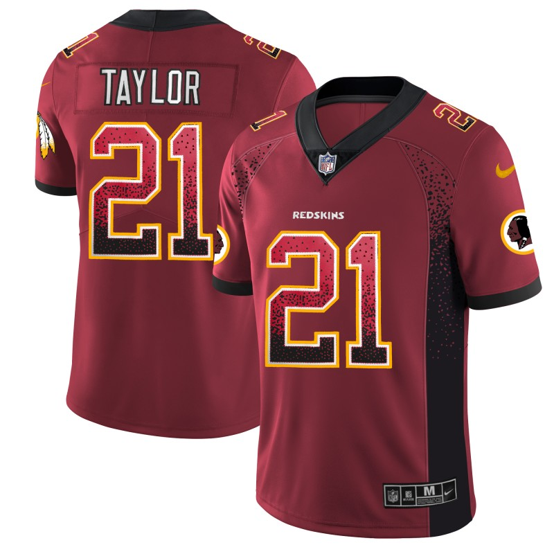 Nike Redskins 21 Sean Taylor Red Drift Fashion Limited Jersey