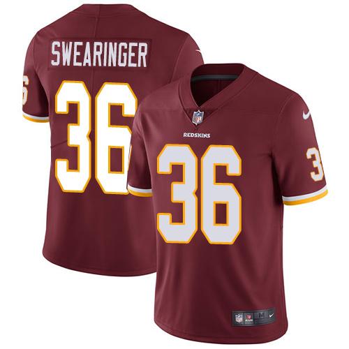 Nike Redskins 36 D.J. Swearinger Burgundy Vapor Untouchable Limited Jersey