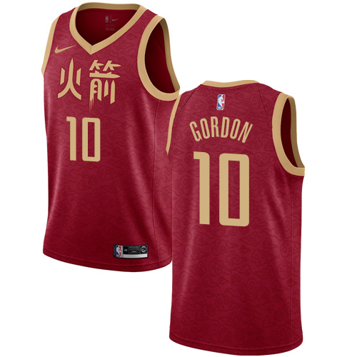 Nike Rockets #10 Eric Gordon Red NBA Swingman City Edition 2018 19 Jersey