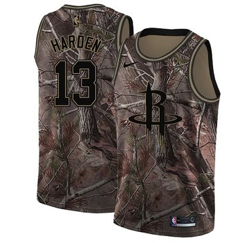 Nike Rockets #13 James Harden Camo Youth NBA Swingman Realtree Collection Jersey