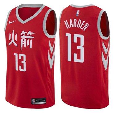Nike Rockets #13 James Harden Red NBA Swingman City Edition Jersey
