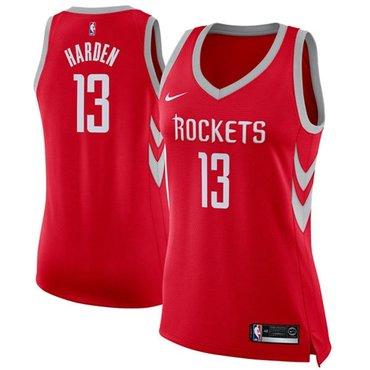 Nike Rockets #13 James Harden Red Women's NBA Swingman Icon Edition Jersey