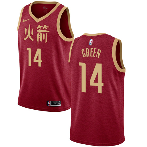 Nike Rockets #14 Gerald Green Red NBA Swingman City Edition 2018 19 Jersey