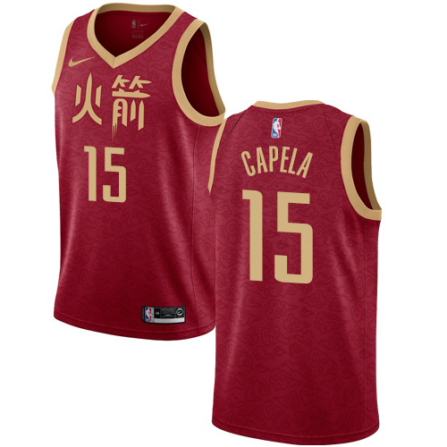 Nike Rockets #15 Clint Capela Red NBA Swingman City Edition 2018 19 Jersey