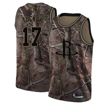 Nike Rockets #17 PJ Tucker Camo NBA Swingman Realtree Collection Jersey
