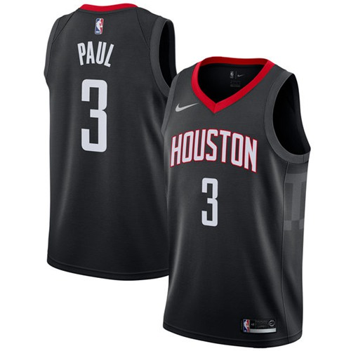 Nike Rockets #3 Chris Paul Black NBA Swingman Statement Edition Jersey