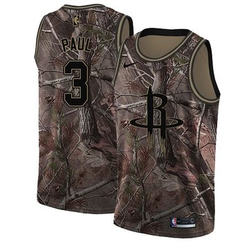 Nike Rockets #3 Chris Paul Camo Youth NBA Swingman Realtree Collection Jersey