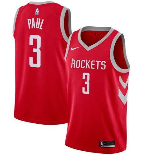 Nike Rockets #3 Chris Paul Red NBA Swingman Icon Edition Jersey