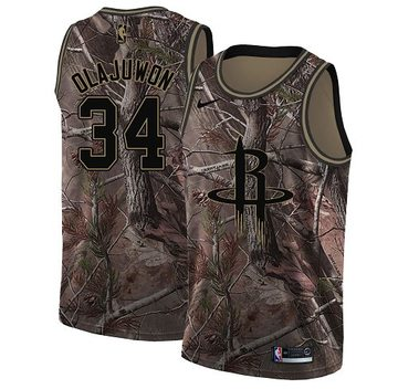 Nike Rockets #34 Hakeem Olajuwon Camo Women's NBA Swingman Realtree Collection Jersey