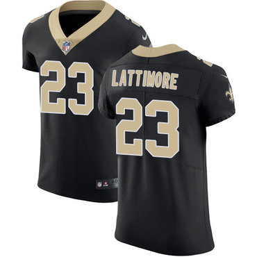 Nike Saints #23 Marshon Lattimore Black Team Color Men's Stitched NFL Vapor Untouchable Elite Jersey
