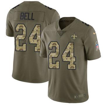 Nike Saints #24 Vonn Bell Olive Camo Men's Stitched NFL Limited 2017 Salute To Service Jersey