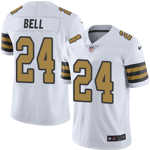 Nike Saints #24 Vonn Bell White Men's Stitched NFL Limited Rush Jersey