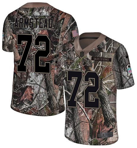 Nike Saints #72 Terron Armstead Camo Men's Stitched NFL Limited Rush Realtree Jersey