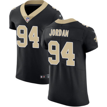 Nike Saints #94 Cameron Jordan Black Team Color Men's Stitched NFL Vapor Untouchable Elite Jersey