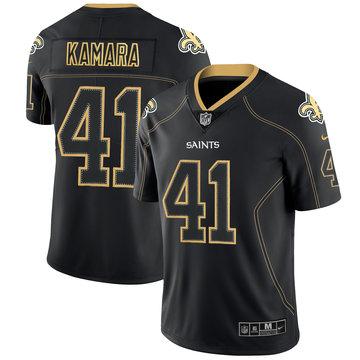 Nike Saints 41 Alvin Kamara Black Shadow Legend Limited Jersey