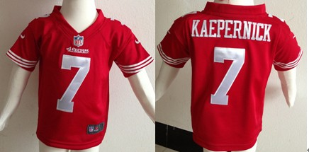 Nike San Francisco 49ers #7 Colin Kaepernick Red Toddler Jerseys