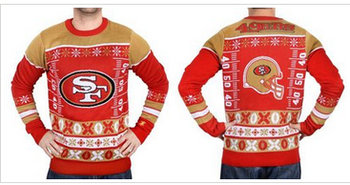 Nike San Francisco 49ers Red Men's Ugly Sweater