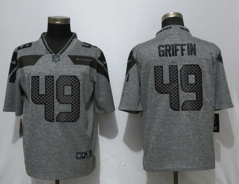 Nike Seahawks 49 Shaquem Griffin Gray Gridiron Gray Vapor Untouchable Limited Jersey