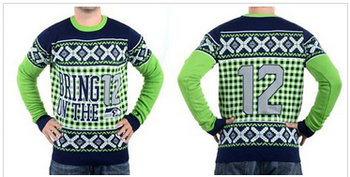 Nike Seattle Seahawks #12 Fan Men's Ugly Sweater