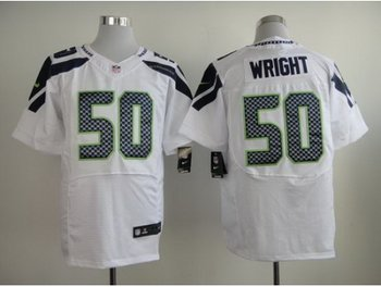 Nike Seattle Seahawks #50 K.J. Wright White Elite Jerseys