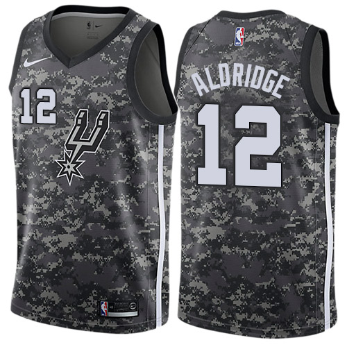 Nike Spurs #12 LaMarcus Aldridge Black NBA Swingman City Edition 2018 19 Jersey