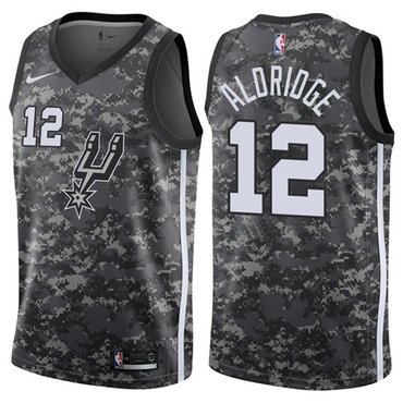 Nike Spurs #12 LaMarcus Aldridge Camo NBA Swingman City Edition Jersey