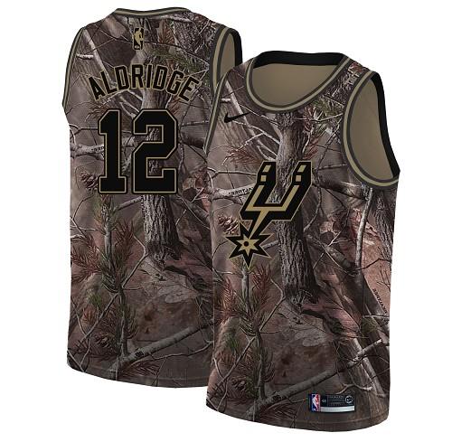 Nike Spurs #12 LaMarcus Aldridge Camo Women's NBA Swingman Realtree Collection Jersey