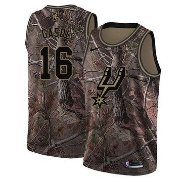 Nike Spurs #16 Pau Gasol Camo Youth NBA Swingman Realtree Collection Jersey