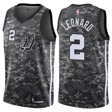 Nike Spurs #2 Kawhi Leonard Camo NBA Swingman City Edition Jersey