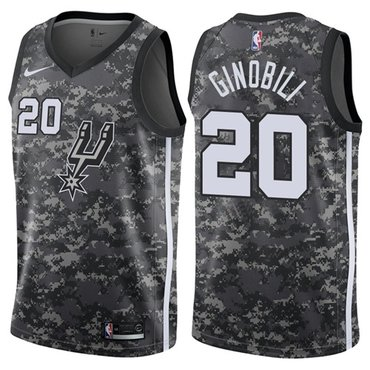 Nike Spurs #20 Manu Ginobili Camo NBA Swingman City Edition Jersey
