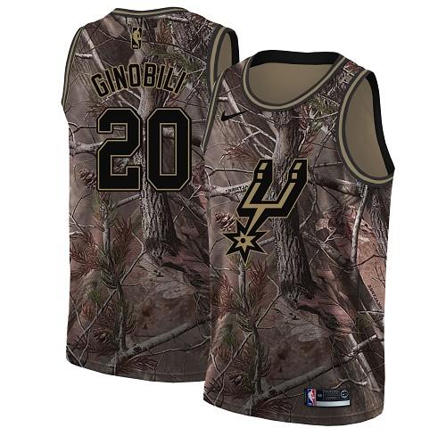 Nike Spurs #20 Manu Ginobili Camo Youth NBA Swingman Realtree Collection Jersey