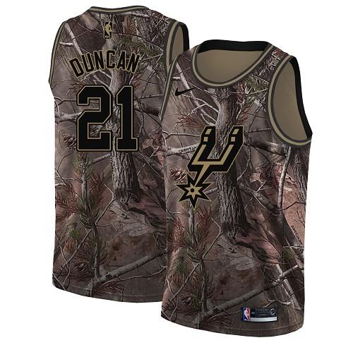 Nike Spurs #21 Tim Duncan Camo Women's NBA Swingman Realtree Collection Jersey