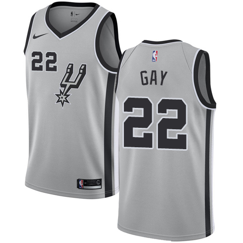 Nike Spurs #22 Rudy Gay Silver NBA Swingman Statement Edition Jersey