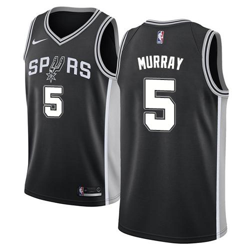 Nike Spurs #5 Dejounte Murray Black NBA Swingman Icon Edition Jersey