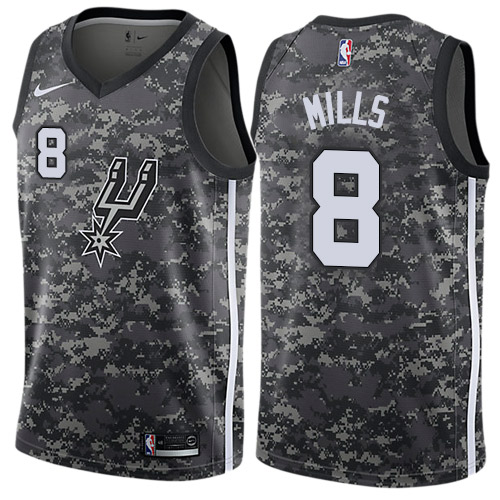 Nike Spurs #8 Patty Mills Black NBA Swingman City Edition 2018 19 Jersey