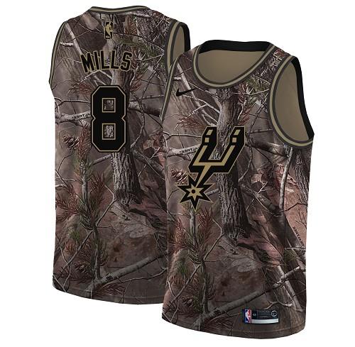 Nike Spurs #8 Patty Mills Camo Youth NBA Swingman Realtree Collection Jersey