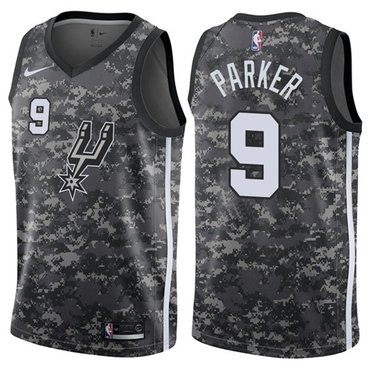 Nike Spurs #9 Tony Parker Camo NBA Swingman City Edition Jersey