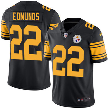 Nike Steelers #22 Terrell Edmunds Black Youth Stitched NFL Limited Rush Jersey