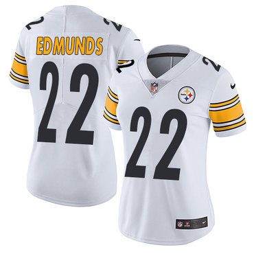 Nike Steelers #22 Terrell Edmunds White Women's Stitched NFL Vapor Untouchable Limited Jersey