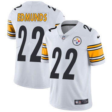 Nike Steelers #22 Terrell Edmunds White Youth Stitched NFL Vapor Untouchable Limited Jersey