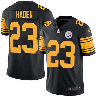 Nike Steelers #23 Joe Haden Black Youth Stitched NFL Limited Rush Jersey