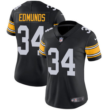 Nike Steelers #34 Terrell Edmunds Black Team Color Women's Stitched NFL Vapor Untouchable Limited Jersey