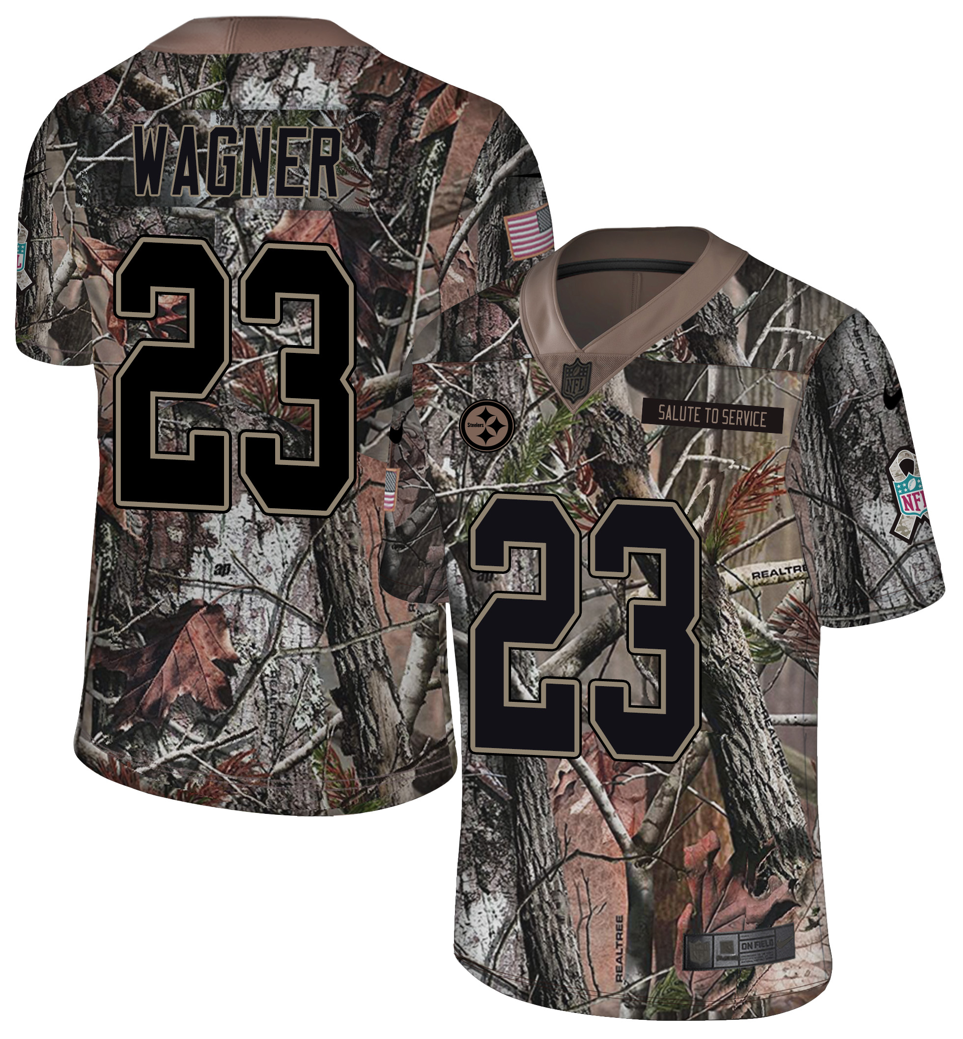 Nike Steelers 23 Mike Wagner Camo Rush Limited Jersey