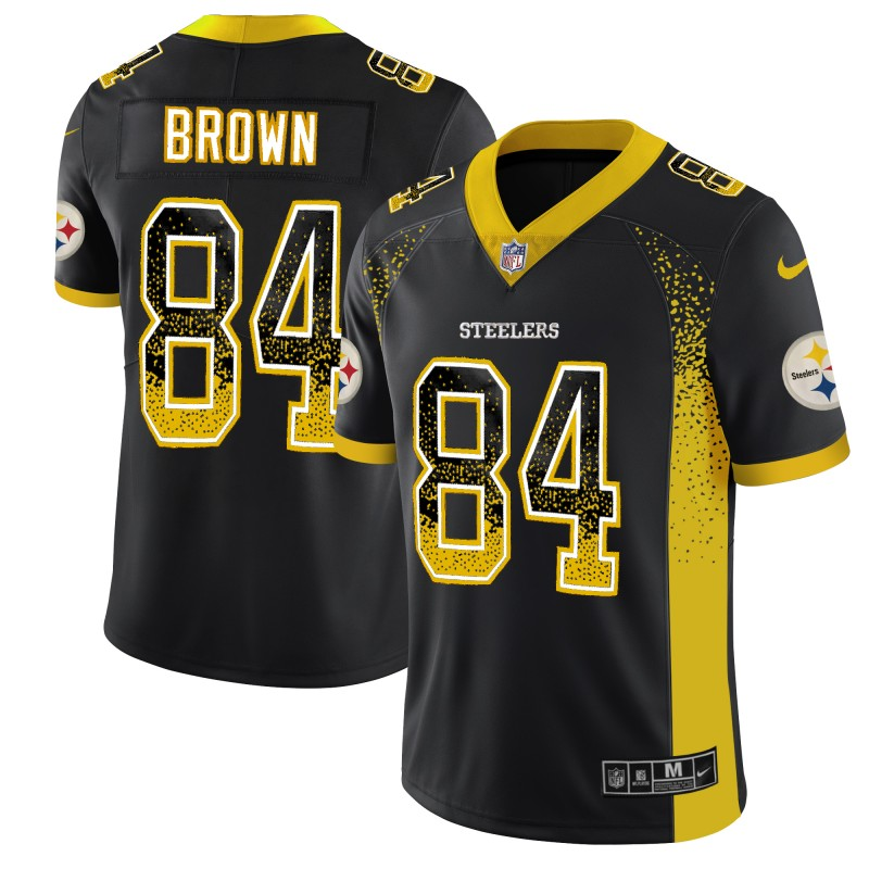 Nike Steelers 84 Antonio Brown Black Drift Fashion Limited Jersey