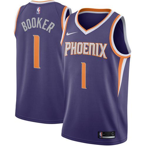 Nike Suns #1 Devin Booker Purple NBA Swingman Jersey
