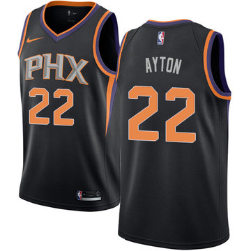 Nike Suns #22 Deandre Ayton Black NBA Swingman Statement Edition Jersey