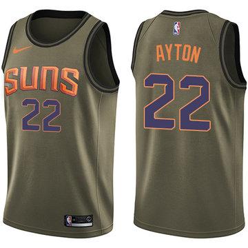 Nike Suns #22 Deandre Ayton Green NBA Swingman Salute to Service Jersey