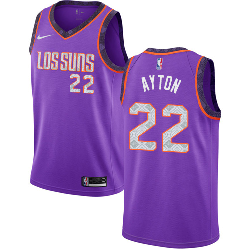 Nike Suns #22 Deandre Ayton Purple NBA Swingman City Edition 2018 19 Jersey